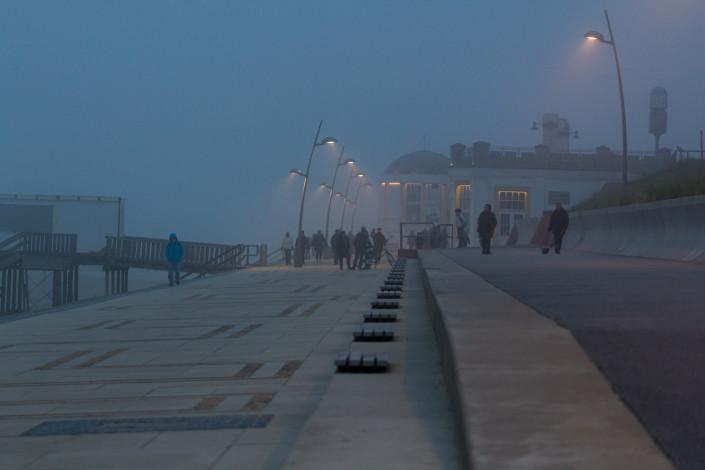 dämmerung,borkum im nebel