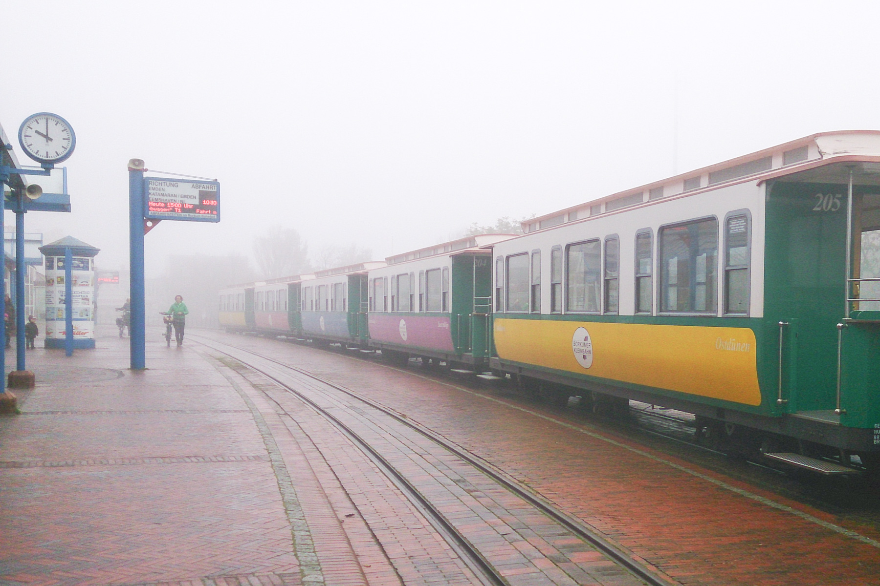 abschied von borkum im nebel