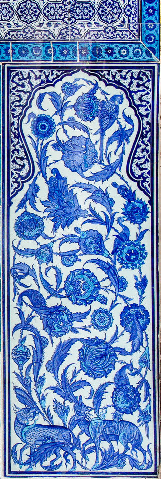 blue tiles in istanbul