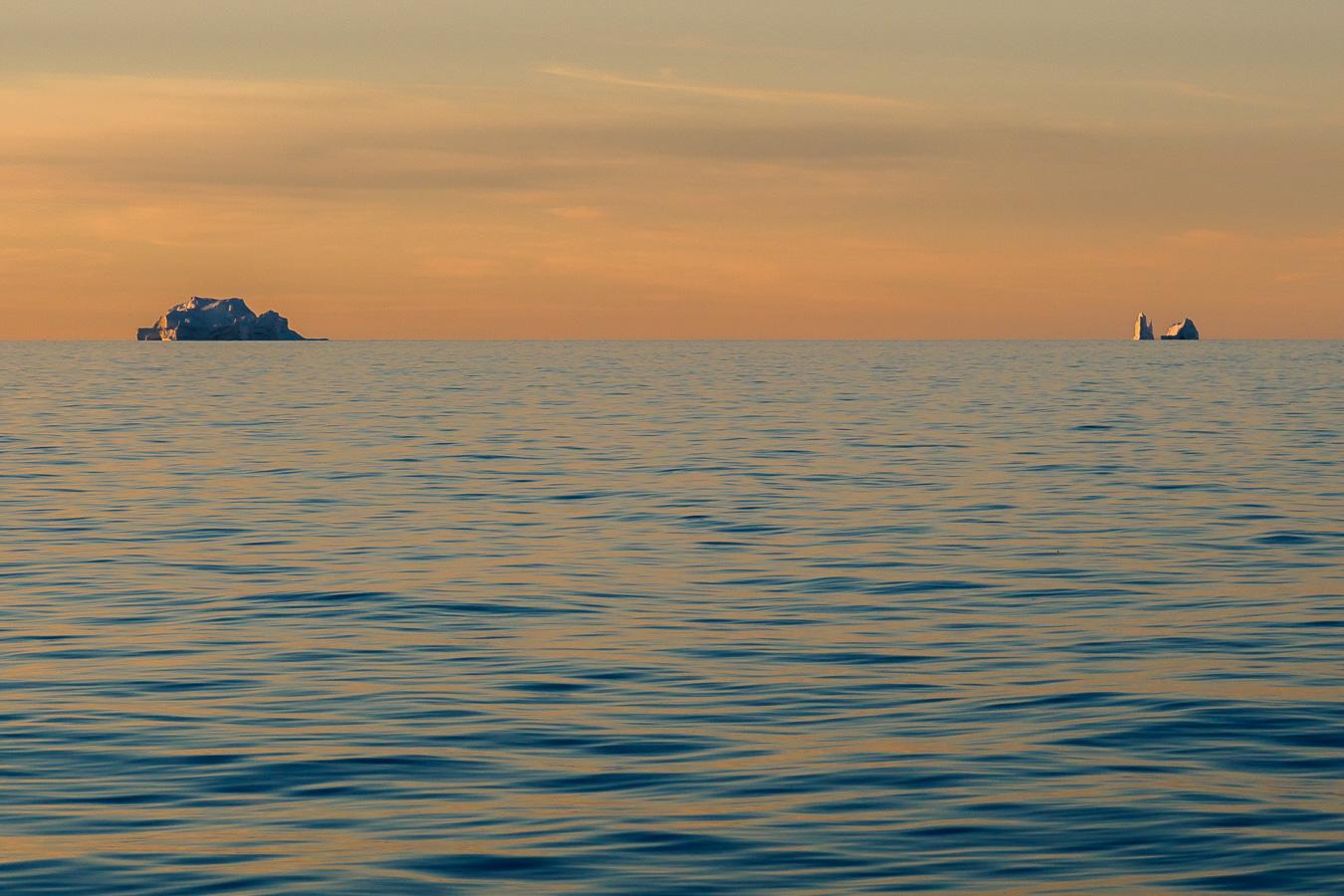 die ersten eisberge