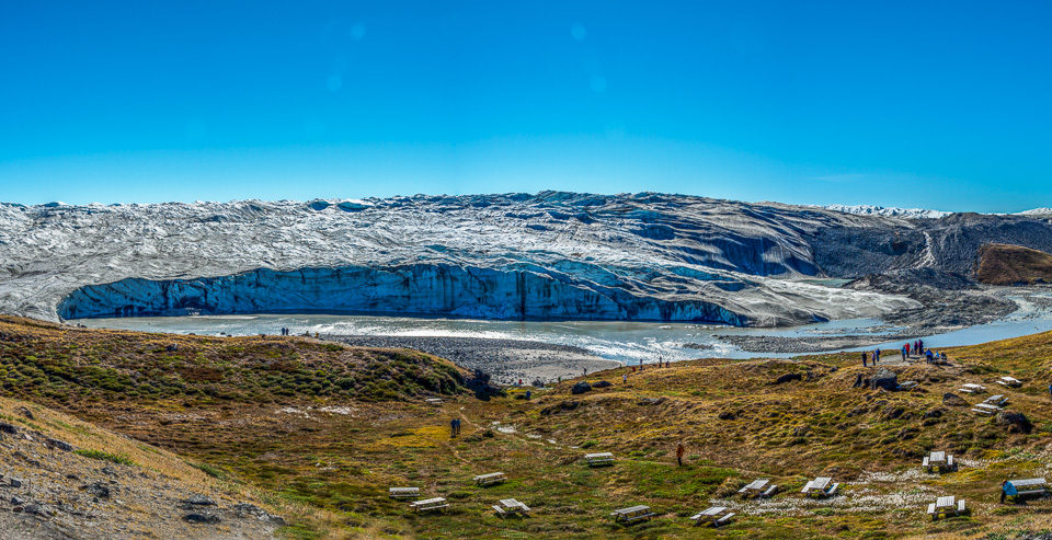 panorama russell glacier - greenland