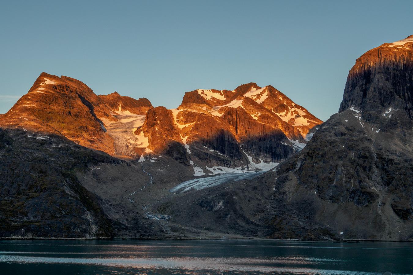 kangerlussuaq fjord gegen 22:30h