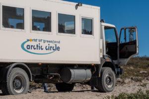 unser 'bus' zum gletscher