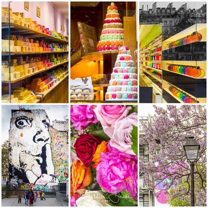 PARIS, Farbexplosion im regnerischen Frühling