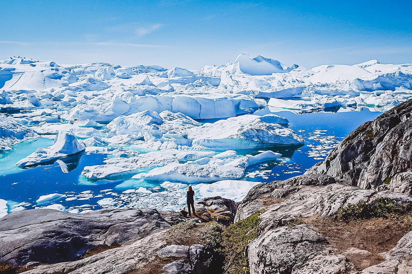 Überwältigender Kangia! Kangia bedeutet Eisfjord. Ilulissat bedeutet Eisberge. Ilulissat, Disko Bucht, Westgrönland