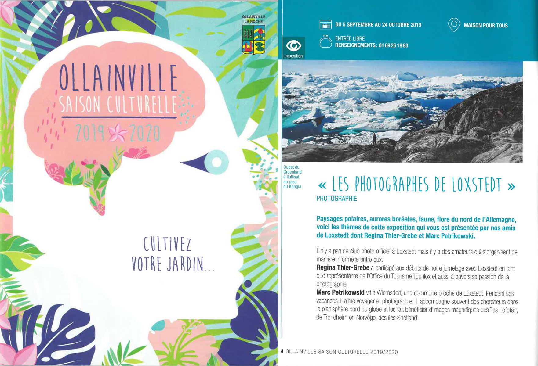 Ollainville Ausstellungs-Ankündigung im Kulturanzeiger